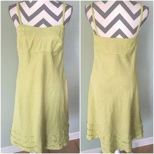 ANN TAYLOR Loft Lite Green Spaghetti Strap Dress